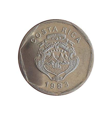 Moeda Antiga da Costa Rica 5 Colones 1983