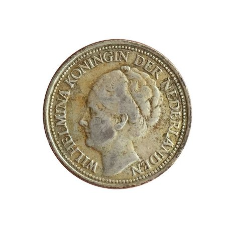 Moeda Antiga de Curaçao 1/4 Gulden 1947