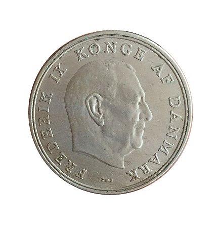 Moeda Antiga da Dinamarca 5 Kroner 1961