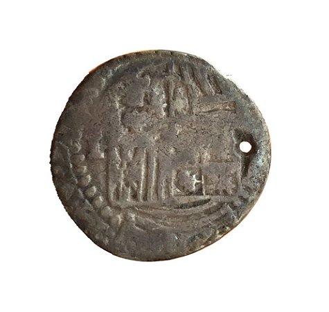 Moeda Antiga da Espanha 1 Real de Burgos 1556-1598 - Philipe II