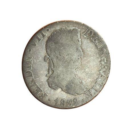 Moeda Antiga da Espanha 2 Reales 1832 S JB