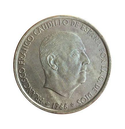 Moeda Antiga da Espanha 100 Pesetas 1966 (66)
