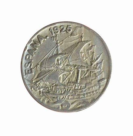 Moeda Antiga da Espanha 25 Centimos 1925