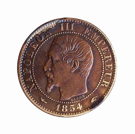 Moeda Antiga da França 5 Centimes 1854 A