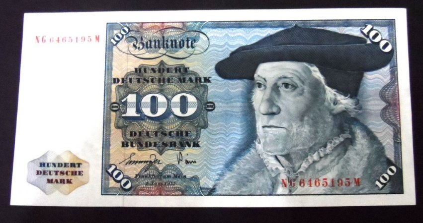 Cédula Antiga da Alemanha 100 Mark 1977