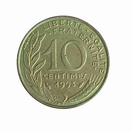 Moeda Antiga da França 10 Centimes 1993