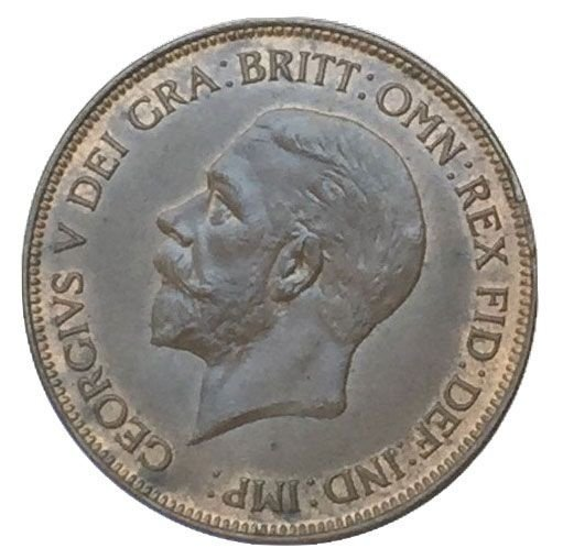 Moeda Antiga da Inglaterra 1 Penny 1935