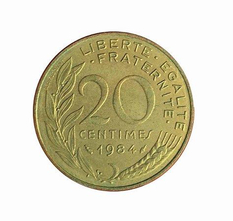 Moeda Antiga da França 20 Centimes 1984