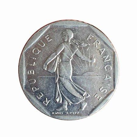 Moeda Antiga da França 2 Francs 1981