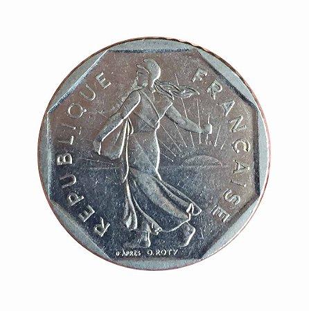 Moeda Antiga da França 2 Francs 1982