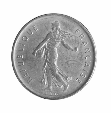 Moeda Antiga da França 5 Francs 1970