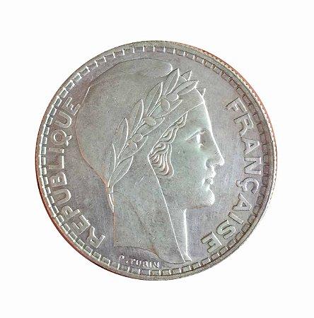 Moeda Antiga da França 20 Francs 1938