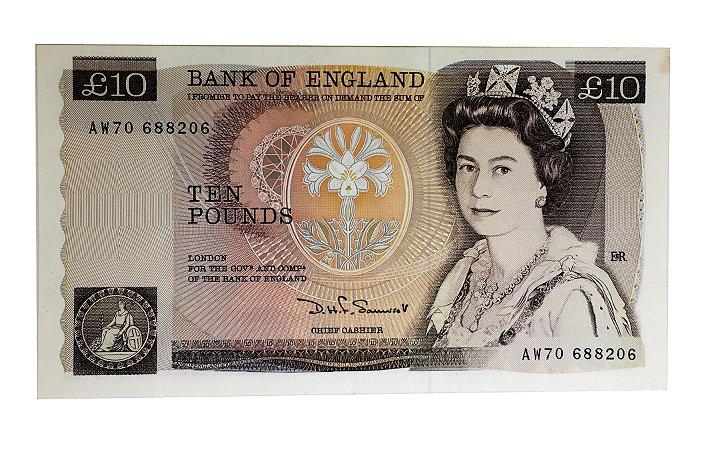 Cédula Antiga da Inglaterra 10 Pounds 1980/84