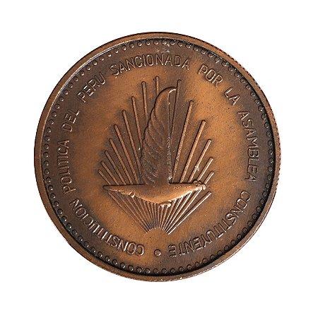 Medalha Antiga do Peru 1979 - Constituição Política