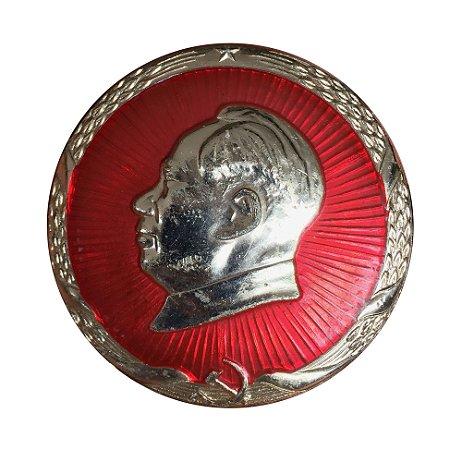 Broche Antigo da China Mao Tse-tung 1968