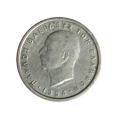 Moeda Antiga da Grécia 50 Lepta 1954