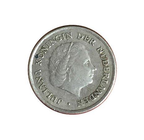 Moeda Antiga da Holanda 10 Cent 1965