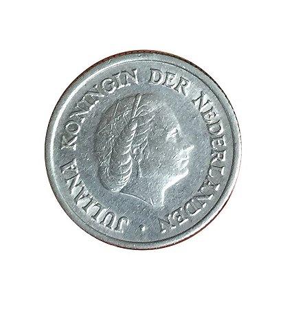 Moeda Antiga da Holanda 25 Cent 1950