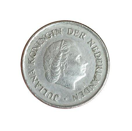 Moeda Antiga da Holanda 25 Cent 1970