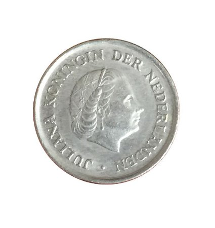Moeda Antiga da Holanda 25 Cent 1980