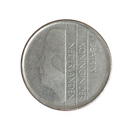 Moeda Antiga da Holanda 25 Cent 1982