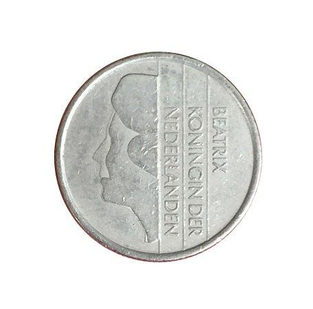Moeda Antiga da Holanda 25 Cent 1986