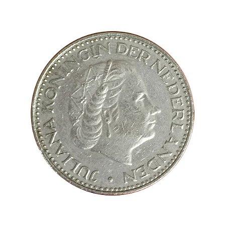 Moeda Antiga da Holanda 1 Gulden 1969