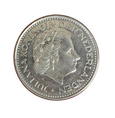 Moeda Antiga da Holanda 1 Gulden 1979