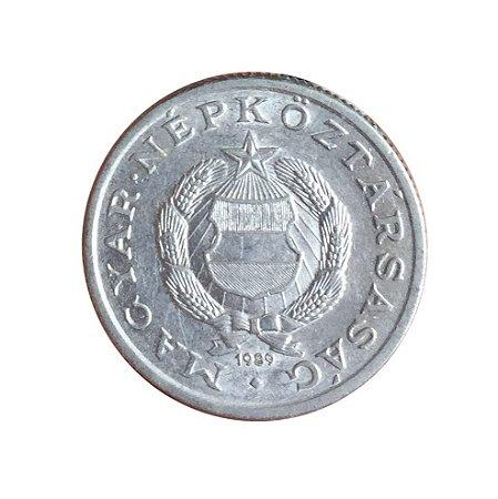 Moeda Antiga da Hungria 1 Forint 1989 - BP