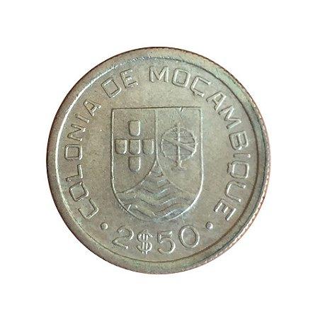 Moeda Antiga de Moçambique 2-1/2 Escudos 1935