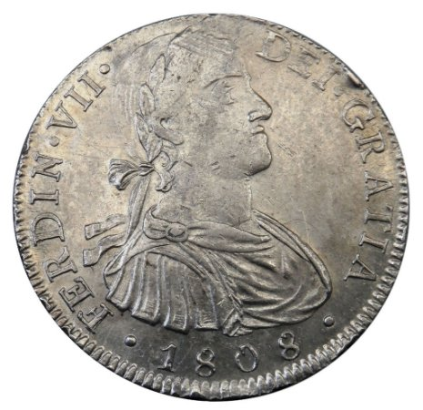 Moeda Antiga do México 8 Reales 1808