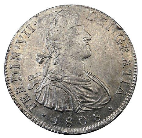 Moeda Antiga do México 8 Reales 1808 - Ferdin VII