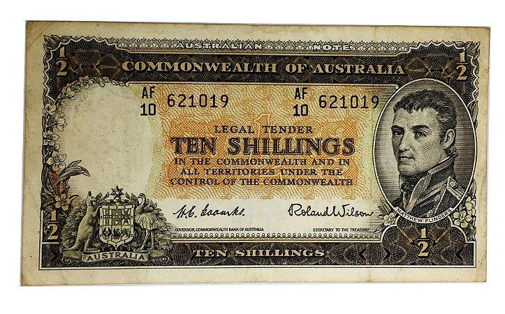 Cédula Antiga da Austrália 10 Shillings ND(1961-65)