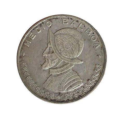 Moeda Antiga do Panamá 1/2 Balboa 1961