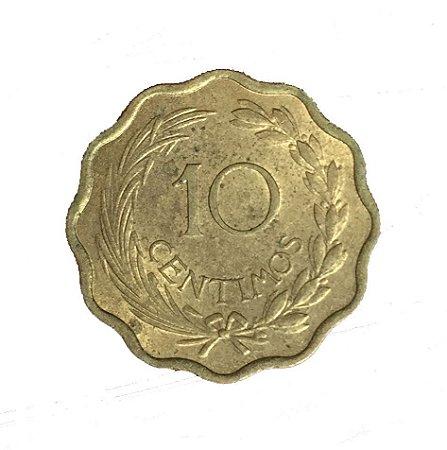 Moeda Antiga do Paraguai 10 Centimos 1953