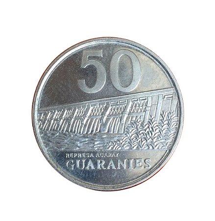 Moeda Antiga do Paraguai 50 Guaranies 1988