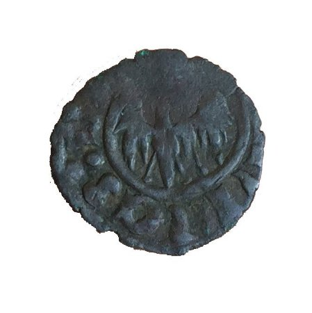 Moeda Antiga da Itália Denaro 1416-1458