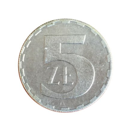 Moeda Antiga da Polônia 5 Zlotych 1990