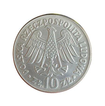 Moeda Antiga da Polônia 10 Zlotych 1964
