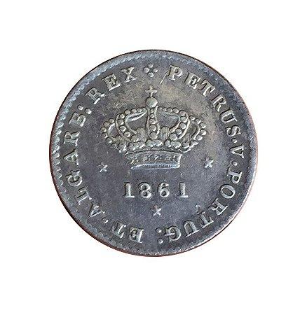 Moeda Antiga de Portugal 50 Réis 1861