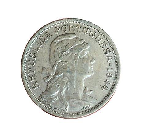 Moeda Antiga de Portugal 50 Centavos 1944