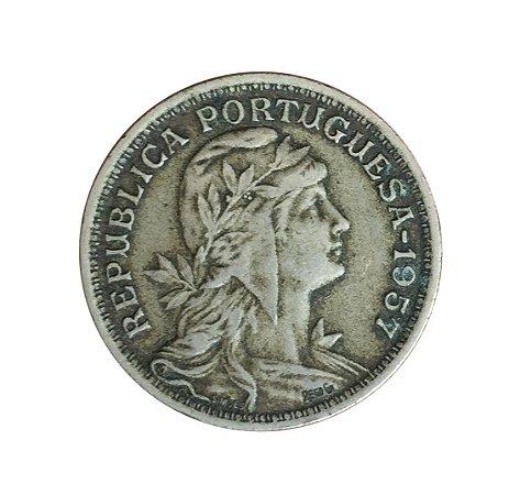 Moeda Antiga de Portugal 50 Centavos 1957