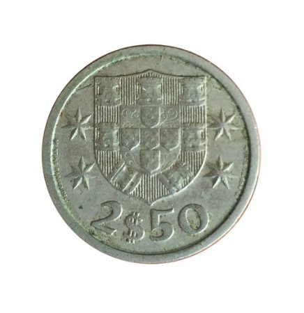 Moeda Antiga de Portugal 2,50 Escudos 1968