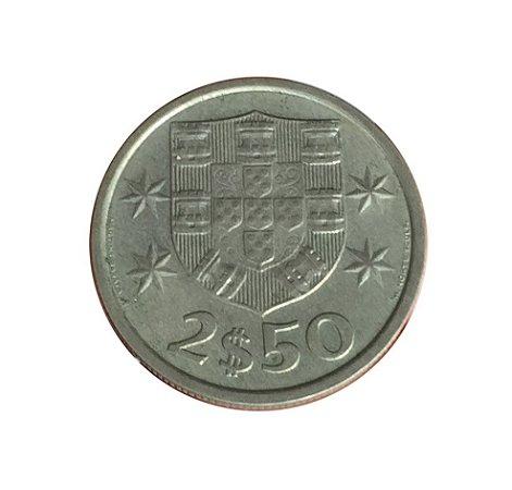 Moeda Antiga de Portugal 2,50 Escudos 1984