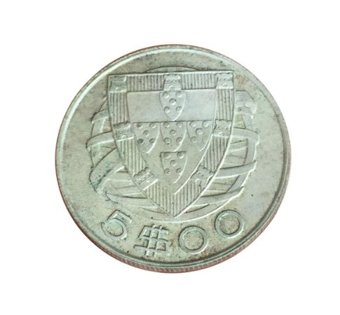 Moeda Antiga de Portugal 5 Escudos 1948
