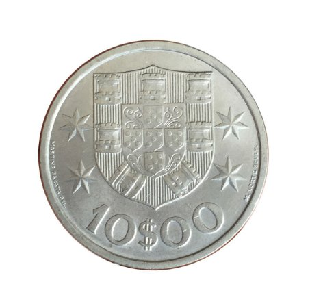 Moeda Antiga de Portugal 10 Escudos 1972