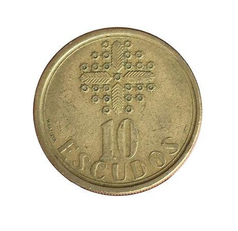 Moeda Antiga de Portugal 10 Escudos 1988
