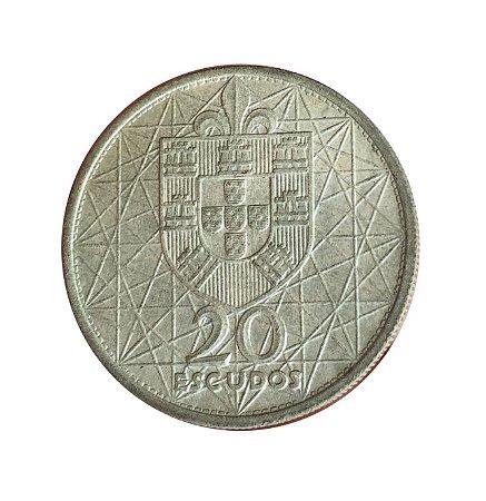 Moeda Antiga de Portugal 20 Escudos 1966