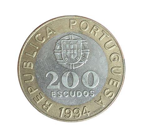 Moeda Antiga de Portugal 200 Escudos 1994 - Capital Européia da Cultura