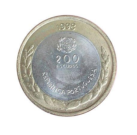 Moeda Antiga de Portugal 200 Escudos 1998 - Expo 98
